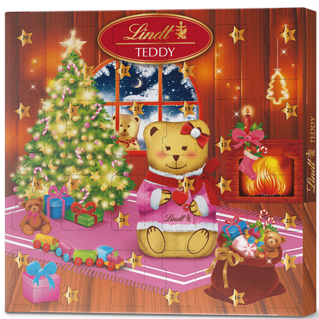 LINDT Adventkalender Teddy Mädchen