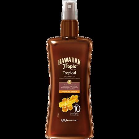 Hawaiian Tropic Tropical Dry Spray Oil LSF 10