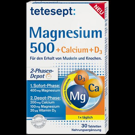 tetesept: Magnesium 500 + Calcium + D3 Tabletten