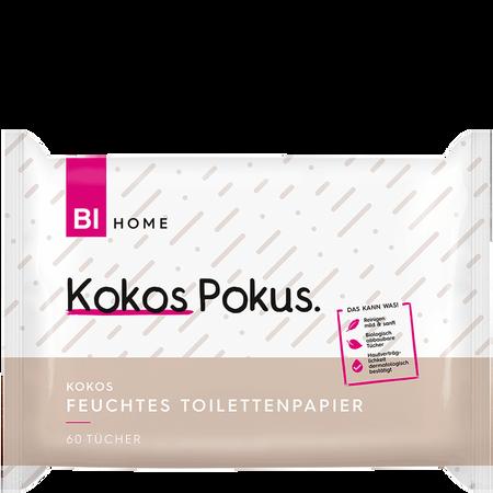 BI HOME Feuchtes Toilettenpapier Kokos