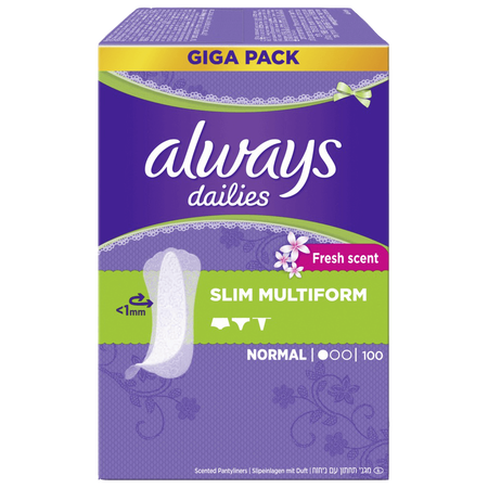 always dailies Slipeinlagen slim multiform fresh giga pack