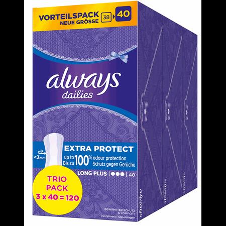 always dailies Slipeinlagen Extra Protect Long Plus Trio Pack
