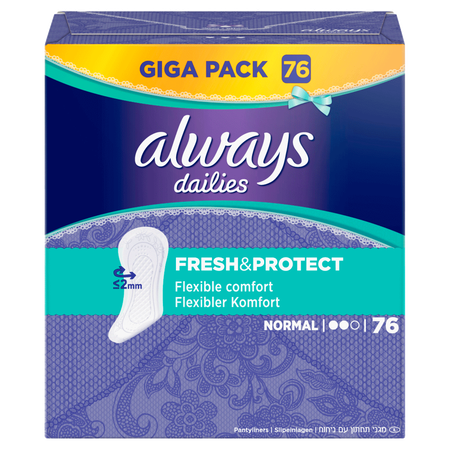 always dailies Slipeinlagen Fresh & Protect normal Giga Pack