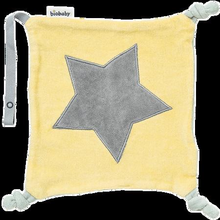 biobaby Schnullertuch aus Nicki gelb