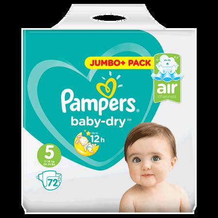 Pampers Baby-Dry Gr. 5 (11-16kg) Jumbo+ Pack