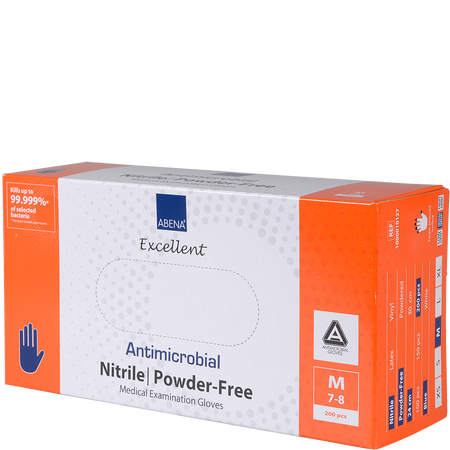 Abena Antimikrobielle Nitrilhandschuhe puderfrei