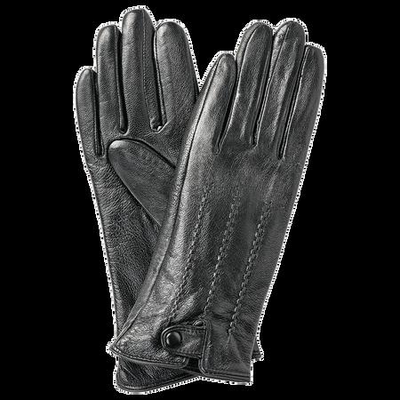 LOOK BY BIPA Echtleder Handschuhe schwarz mit Naht