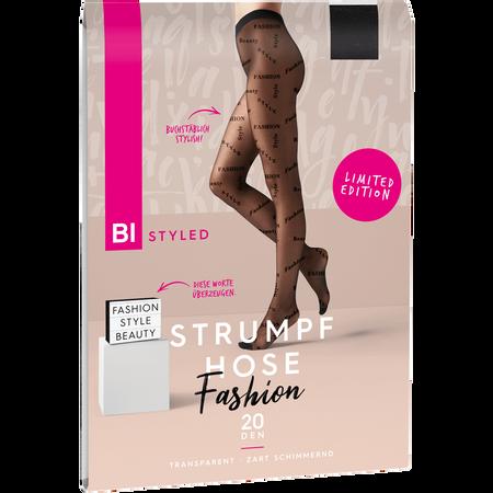 BI STYLED Fashion Strumpfhose Schriftzug 20 DEN