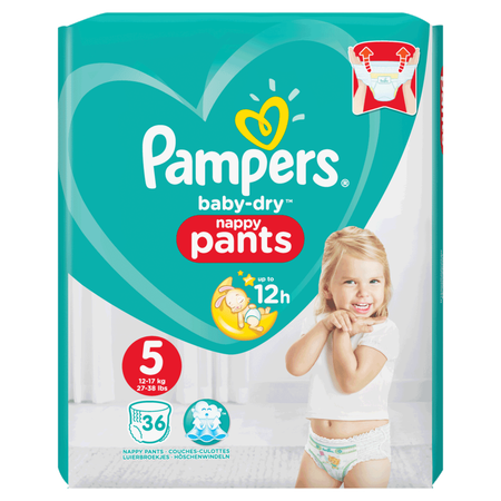 Pampers Baby-Dry Pants Gr. 5 (12-17kg) Value Pack