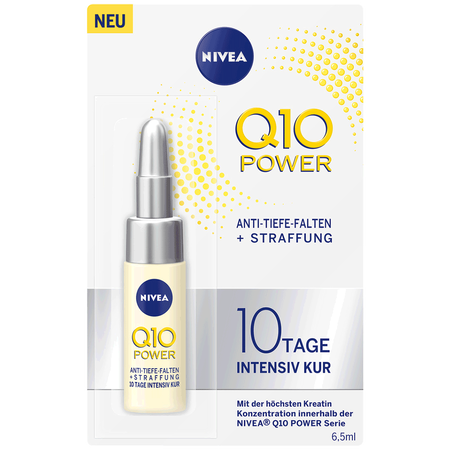 Bild: NIVEA Q10 Power 10 Tage Kur Anti Tiefe Falten + Straffung  NIVEA Q10 Power 10 Tage Kur Anti Tiefe Falten + Straffung
