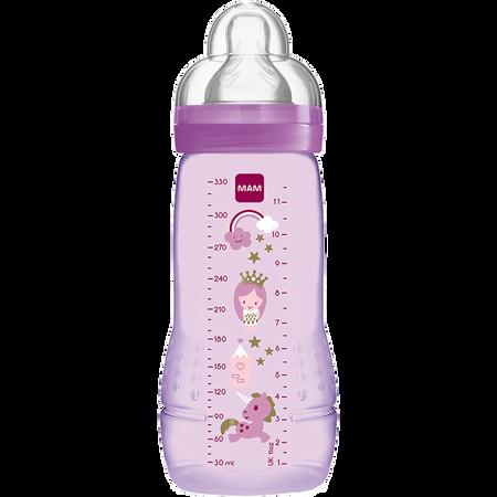 MAM Easy Active Baby Bottle 330ml Fairy Tale - Babyflasche Rosa