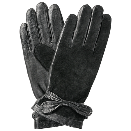 LOOK BY BIPA Echtleder Handschuhe schwarz