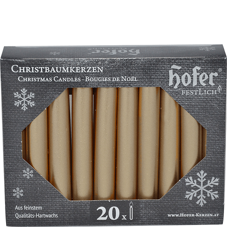 Hofer Christbaumkerzen silver-gold