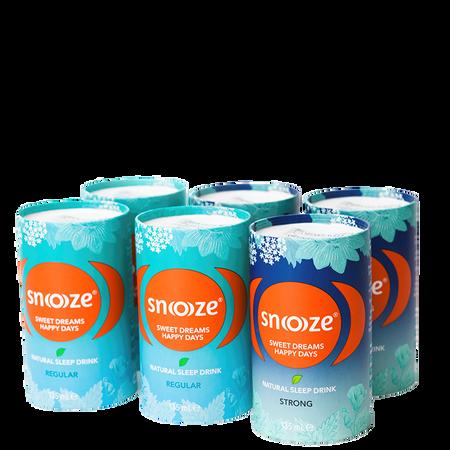 SNOOOZE Natürliches Schlafgetränk Mix Sample Pack