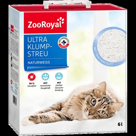 ZooRoyal Ultra Klump-Streu naturweiß