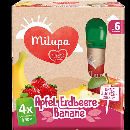 Milupa Quetschbeutel Apfel Erdbeere Banane