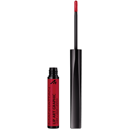 MANHATTAN Lip Art Graphic Liner + Liquid Lipstick