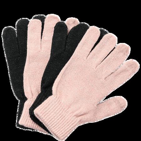 LOOK BY BIPA Smartphone Handschuhe lurexschwarz und lurexrosa Doppelpack