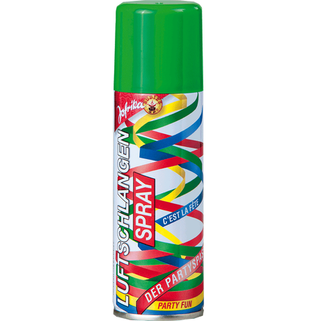 Jofrika Luftschlangenspray grün