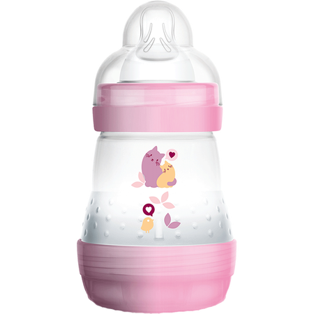 MAM Easy Start Anti-Colic 160ml Time for Love - Babyflasche Rosa