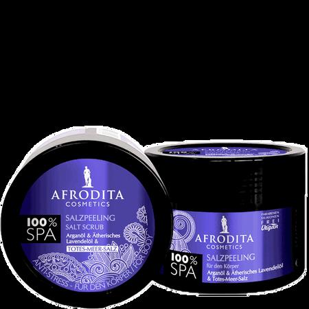 AFRODITA Cosmetics Salzpeeling Arganöl & Ätherisches Lavendelöl & Totes-Meer-Salz