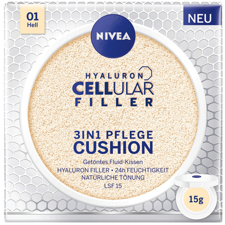 Bild: NIVEA Hyaluron Cellular Filler 3in1 Pflege Cushion hell NIVEA Hyaluron Cellular Filler 3in1 Pflege Cushion