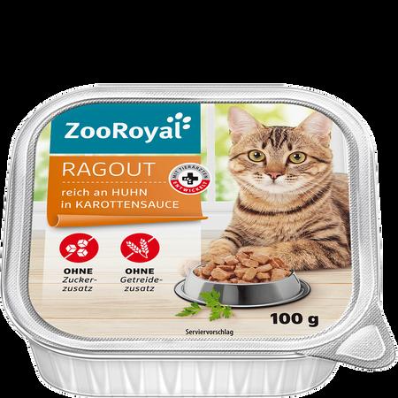 ZooRoyal Ragout reich an Huhn in Karottensauce