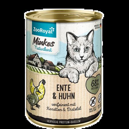 ZooRoyal Minkas Naturkost Adult Ente & Huhn Katzenfutter