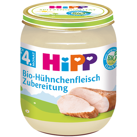 HiPP Bio-Hühnchenfleisch Zubereitung