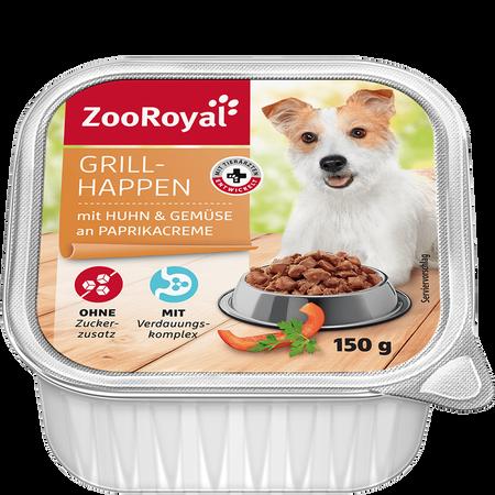 ZooRoyal Grillhappen mit Huhn & Gemüse an Paprikacreme