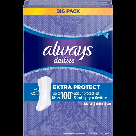 always dailies Slipeinlagen Extra Protect Large BigPack/Vorteilspack