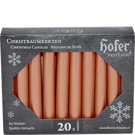 Hofer Christbaumkerzen roségold