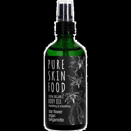 Pure Skin Food Bio Körper & Massageöl Sternblume Argan Bergamotte