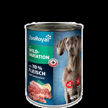 ZooRoyal Hundenassfutter mit Wildvariation