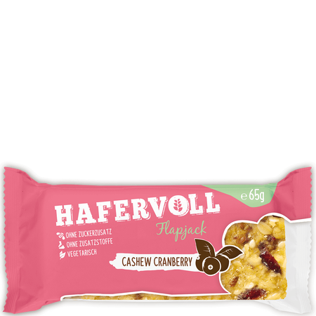 HAFERVOLL Flapjack Cashew Cranberry