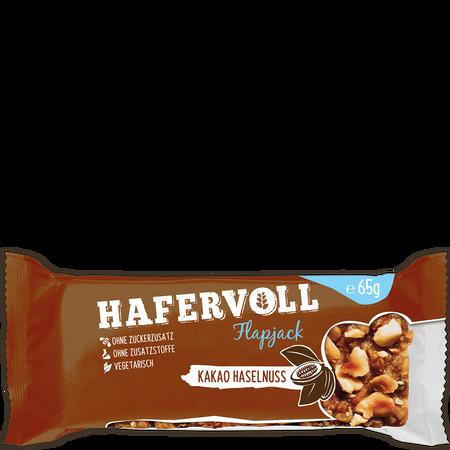 HAFERVOLL Flapjack Kakao Haselnuss