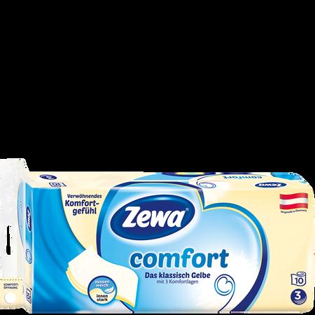 Zewa Comfort Das klassisch Gelbe Toilettenpapier