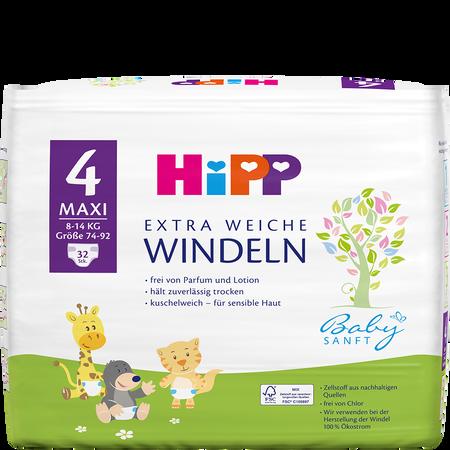 HiPP Babysanft Windeln Maxi 4 8-14kg