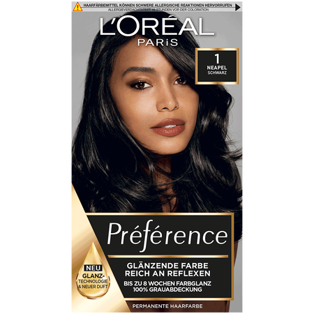 L'ORÉAL PARIS Preference 1 Neapel Haarfarbe schwarz