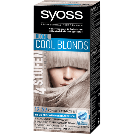 Bild: syoss PROFESSIONAL Cool Blonds kühles platinblond syoss PROFESSIONAL Cool Blonds