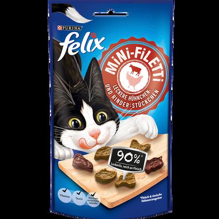 Felix Mini-Filetti Leckere Hühnchen- und Rinder-Stückchen
