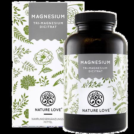 NATURE LOVE Magnesium (Tri-Magnesium Dicitrat) Kapseln