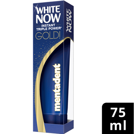 mentadent White now Gold Zahncreme