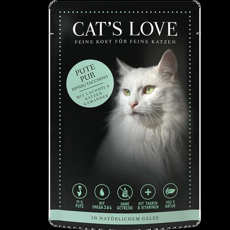 CAT´S LOVE Pute Pur Katzenfutter