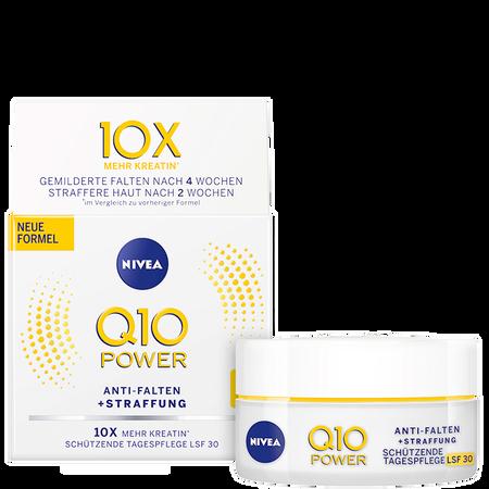 NIVEA Q10 Power Anti-Falten+Straffung schützende Tagespflege LSF 30