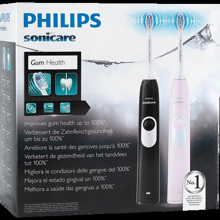 PHILIPS Sonicare 2 Series Doppelpack Black + Pink elektrische Zahnbürste