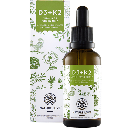 NATURE LOVE Vitamin D3 + K2 Tropfen