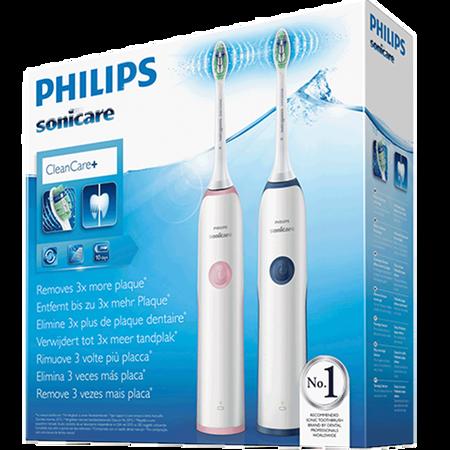 PHILIPS Sonicare Clean Care+ elektrische Schallzahnbürste Doppelpack