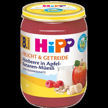 HiPP Frucht & Getreide Himbeere in Apfel-Bananen-Müsli