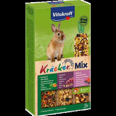 Vitakraft Original Kräcker Mix Trio Zwergkaninchen